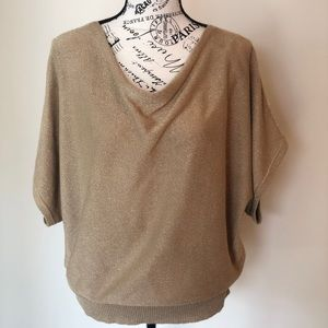 Like New Michael Kors Gold Cowl Sweater Top
